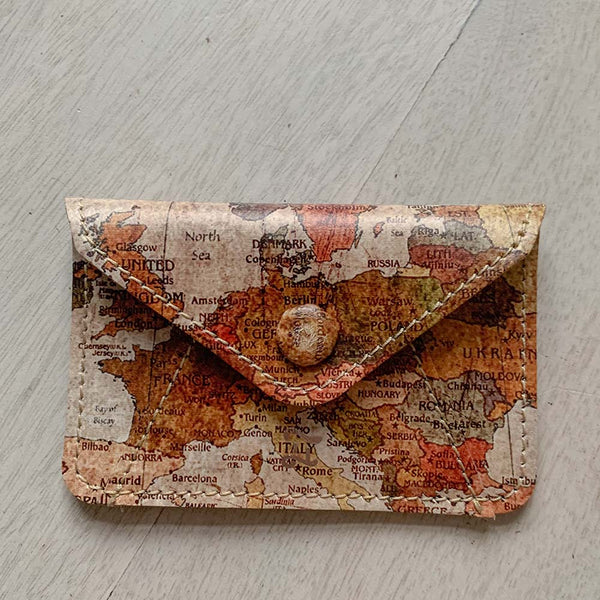 CARD WALLET VINTAGE ATLAS