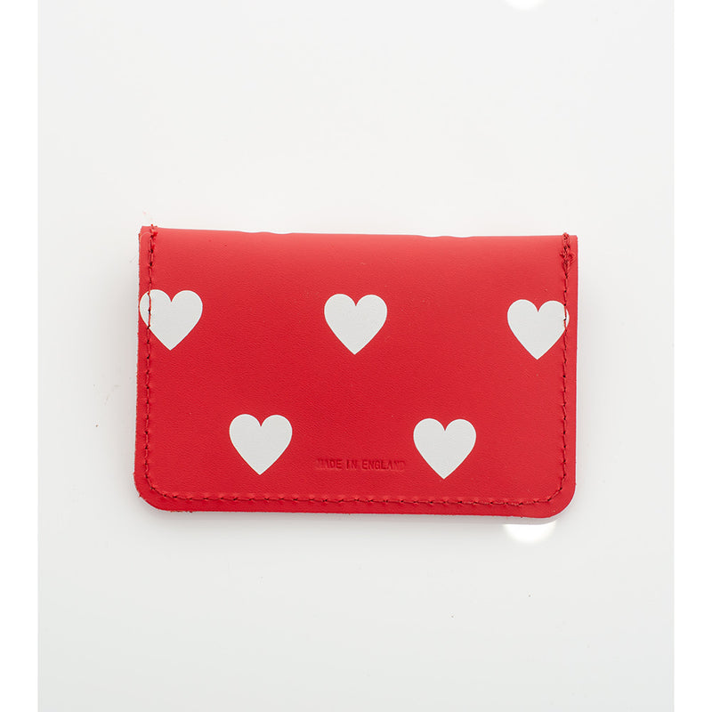 CARD WALLET HEARTS RED