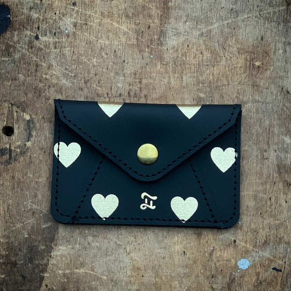 CARD WALLET GOLD HEARTS