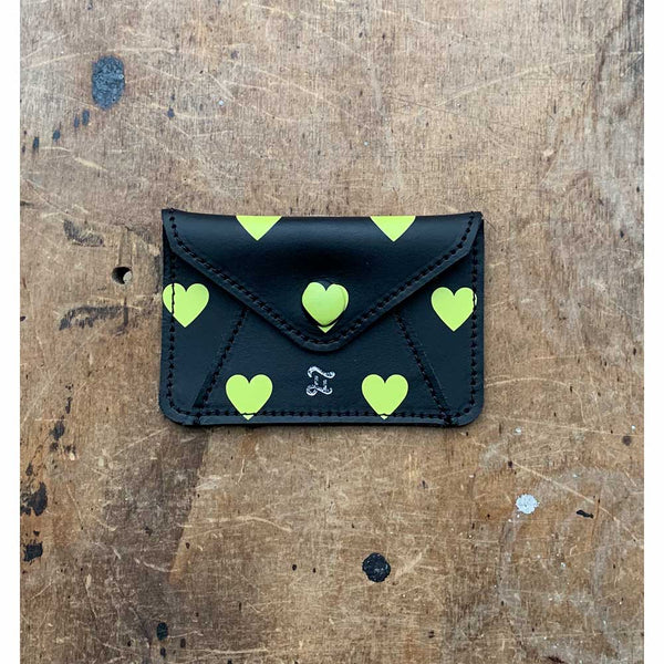 CARD WALLET YELLOW HEARTS