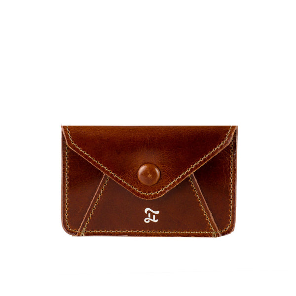 CARD WALLET GOLDEN BROWN