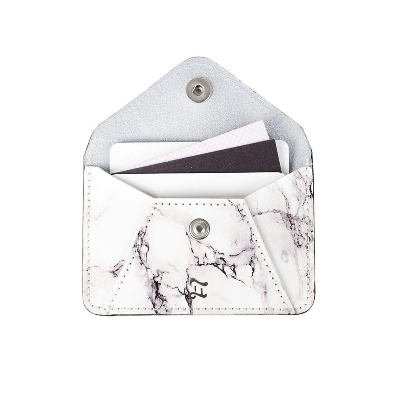 CARD WALLET WHITE MARBLE