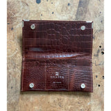 BROWN CROC WALLET