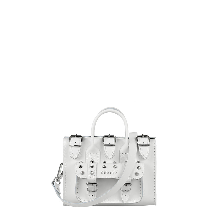 LUNA SMALL SPIKEY WHITE