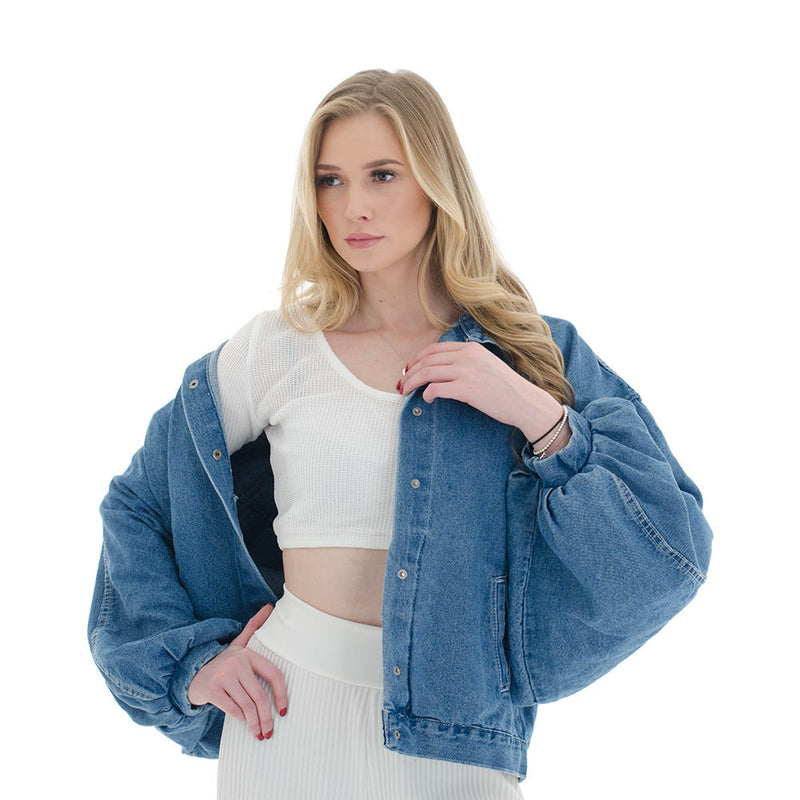 SLOUCHY DENIM JACKET (4186307068007)