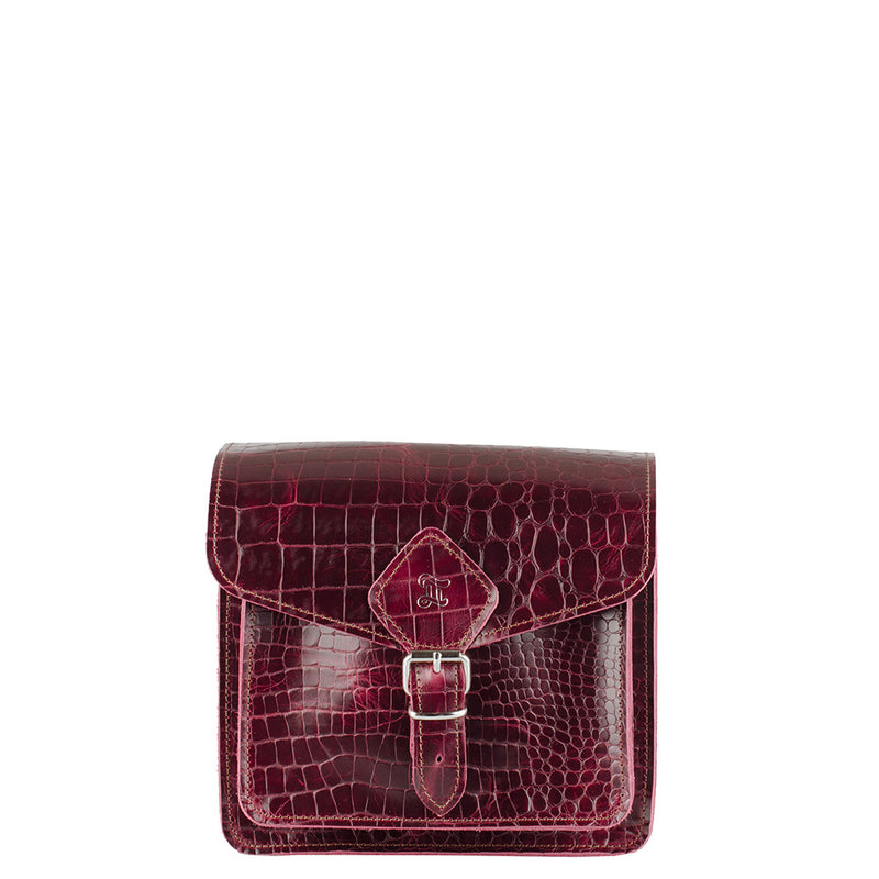 SMALL MESSENGER CROC RED (4186215088231)
