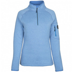 Gill Women's Knit Fleece 1/4 Zip Light Blue