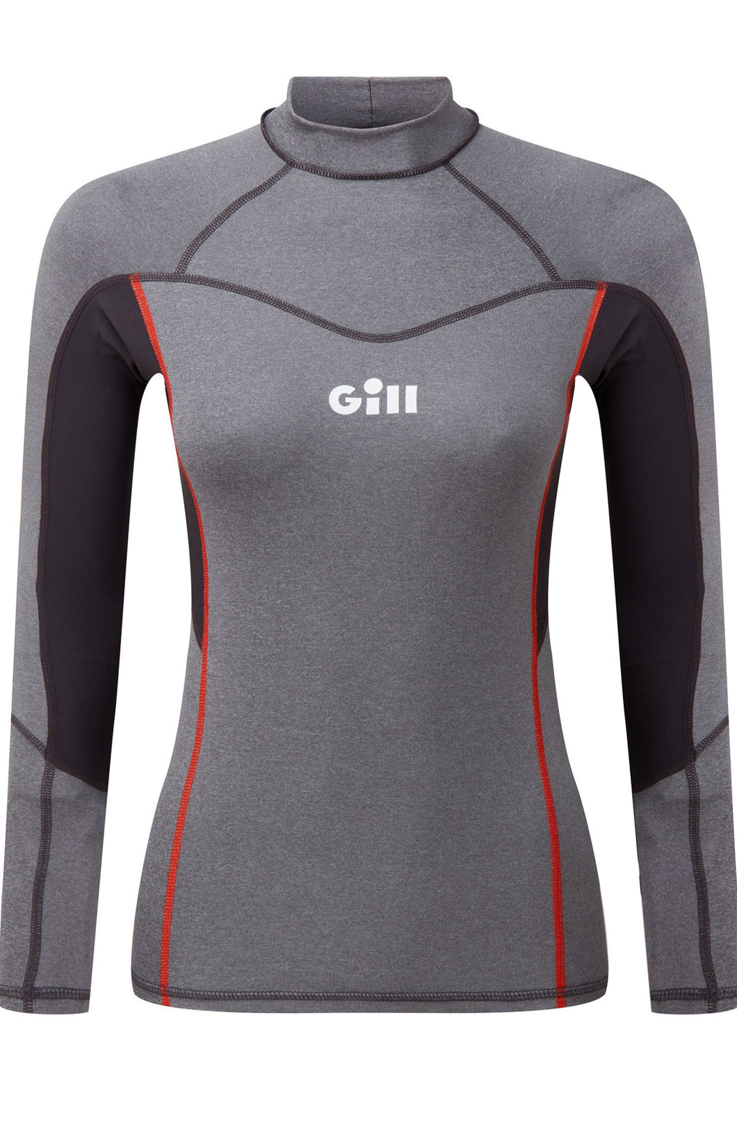 Gill Women's Pro Rash Vest Long Sleeve Grey Melange