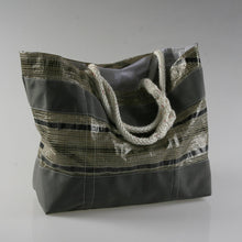 Load image into Gallery viewer, Sail Resale Large Tech Gray Stripe Heritage Carryall