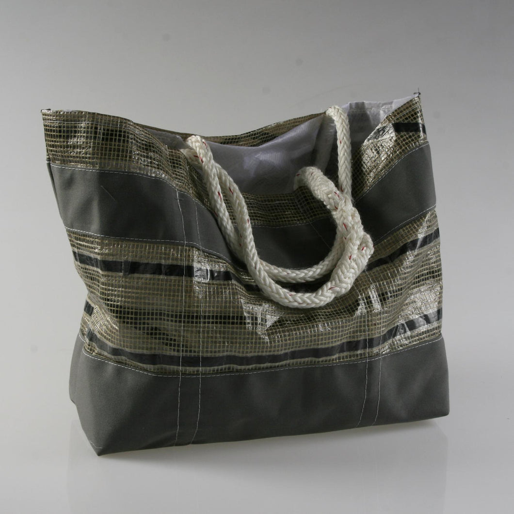 Sail Resale Large Tech Gray Stripe Heritage Carryall