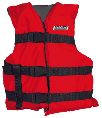 Freedom Boat Club Seachoice Youth Type III General Purpose Vest Red