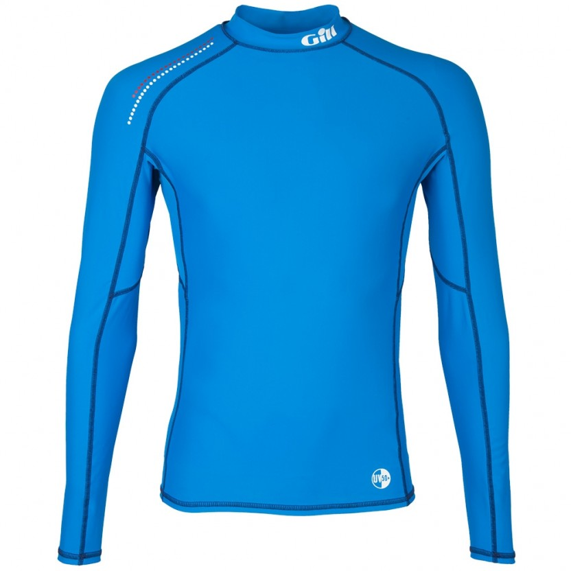 Gill Men's Pro Rash Guard Long Sleeve Blue