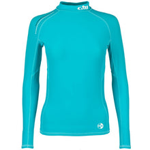 Load image into Gallery viewer, Gill Women's Pro Rash Guard Long Sleeve Aqua