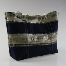 Load image into Gallery viewer, Sailresale Large Tech Blue Stripe 2 Heritage Carryall