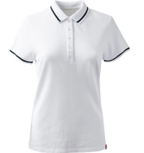 Load image into Gallery viewer, Gill Women's Crew Polo White with Black Stripe
