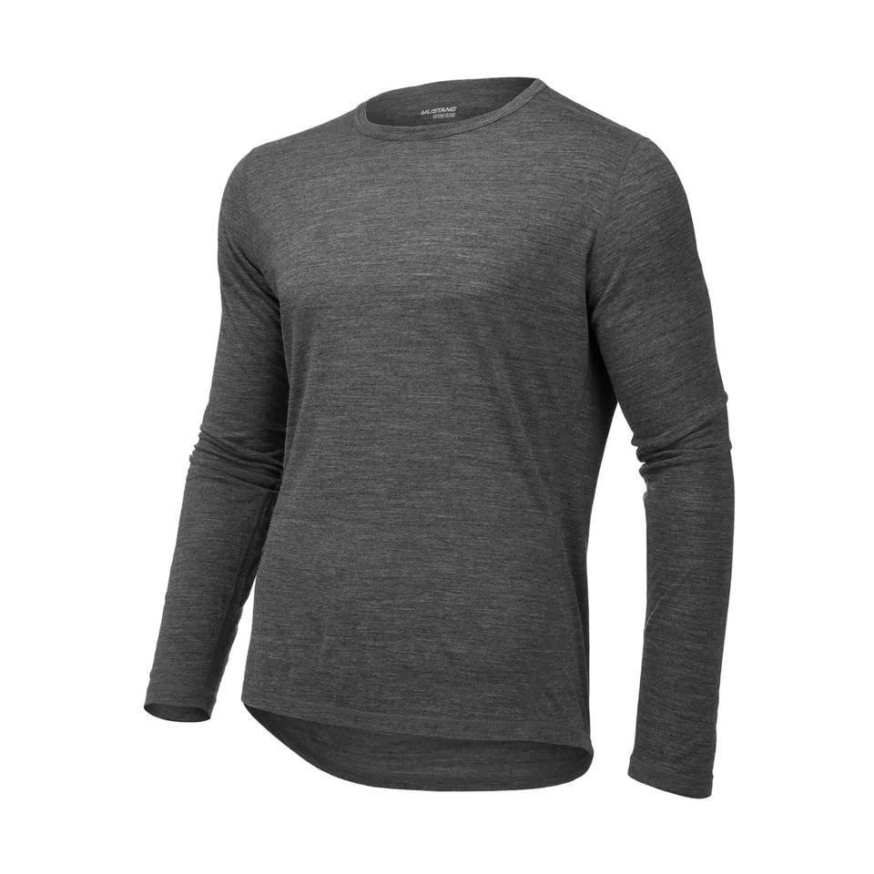 Mustang Regulate 175 Base Layer Crew Neck Grey