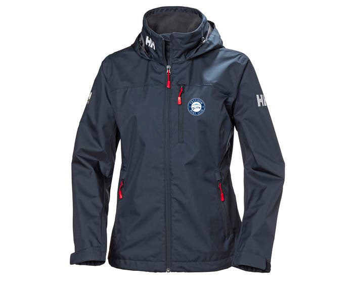 Women's Freedom Boat Club Helly Hansen Crew Hooded Jacket Navy
