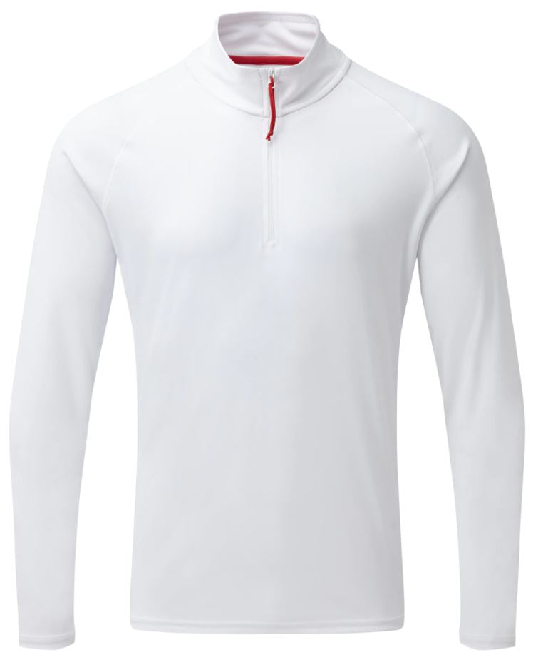 Gill Men's UV Tec L/S Zip Tee White