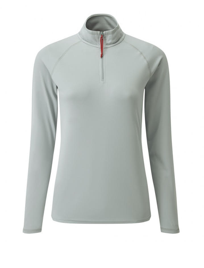 Gill Women's UV Tec Long Sleeve Zip Tee Grey