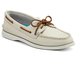 Sperry Women's A/O 2 Eye Boat Shoe Ivory