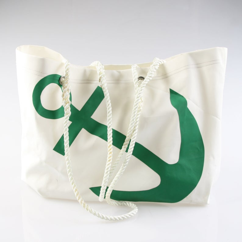 Sail Resale Large Heritage Green Anchor Carryall