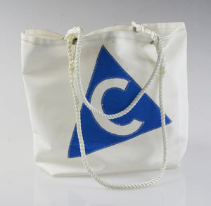 "Sail Resale Large Heritage Blue ""C"" Carryall"