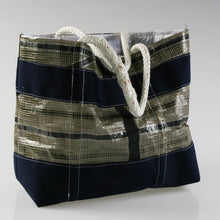 Load image into Gallery viewer, Sailresale Large Tech Blue Stripe Heritage Carryall