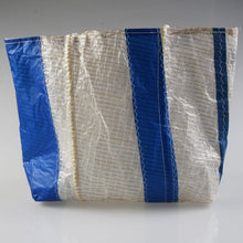 Load image into Gallery viewer, Sail Resale Large Tech Blue Vertical Stripe Heritage Carryall