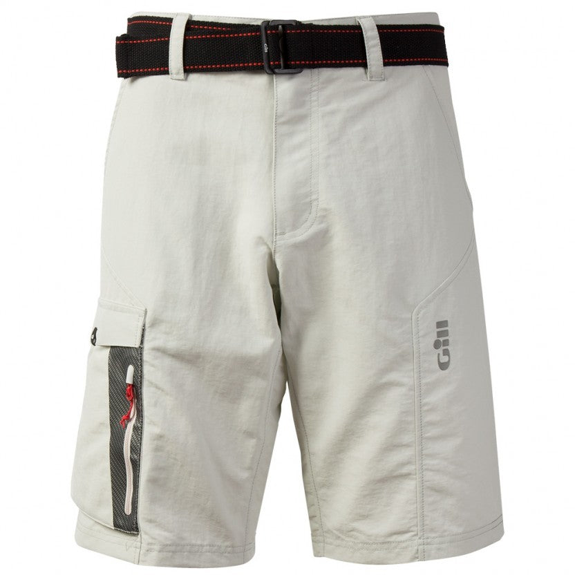 Gill Race Shorts with Belt Silver