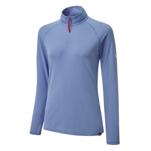 Gill Women's UV Tec Long Sleeve Zip Tee Blue