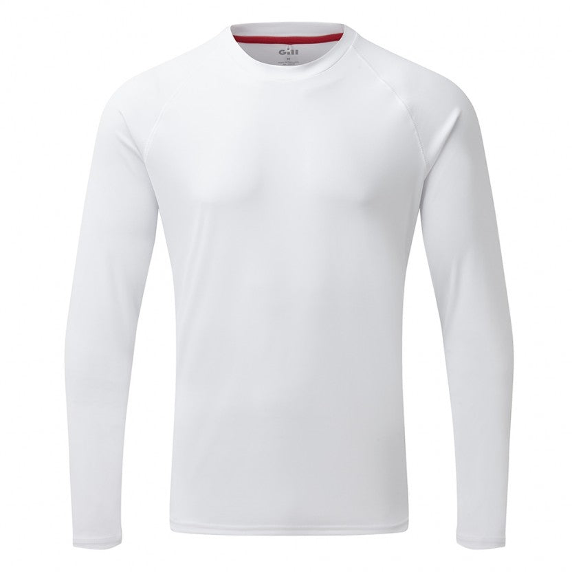 Gill Men's UV Tec L/S Tee White