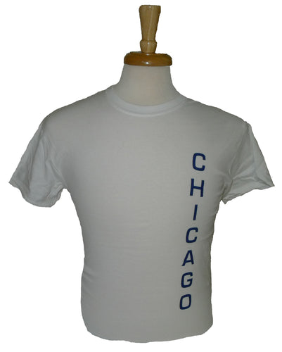 Gildan Chicago Matchcup Race T Shirt White/Blue