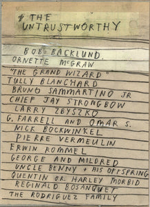 Untrustworthy List by David Fullarton