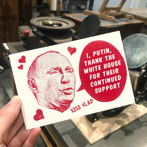 Putin postcard (pack of 25)