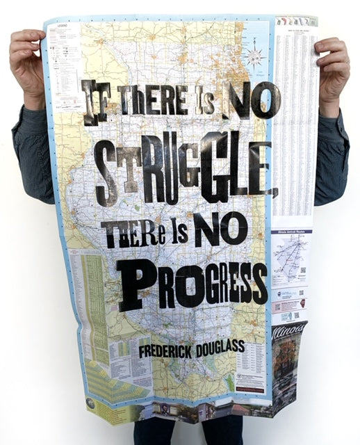 No Struggle...No Progress (Illinois map)