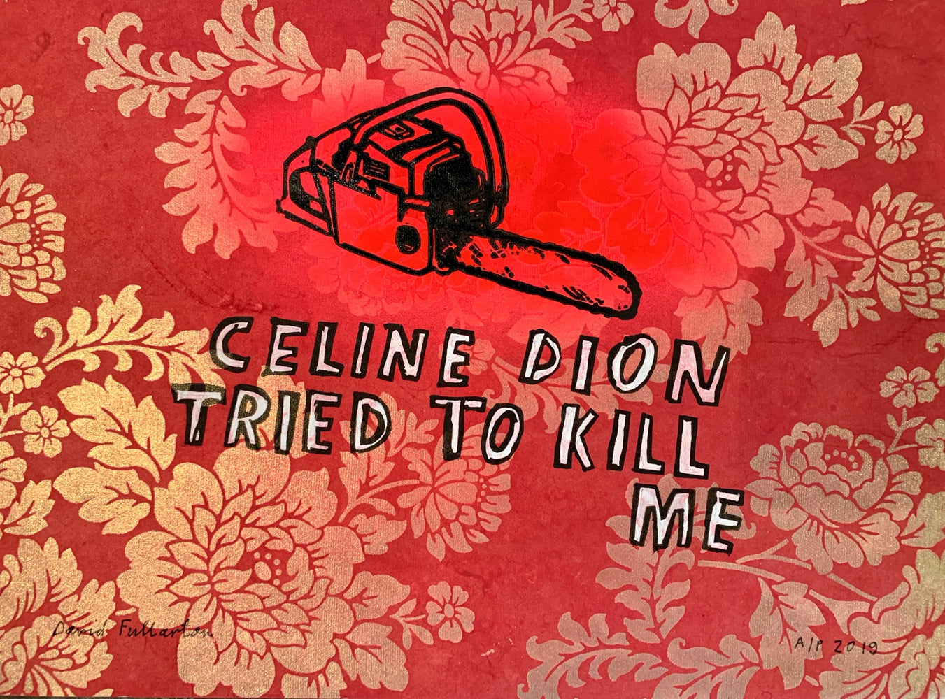 Celine Dion (pink wallpaper)