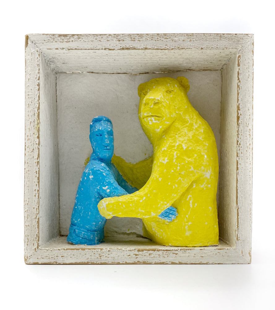 Bear Dance, Blue and Yellow