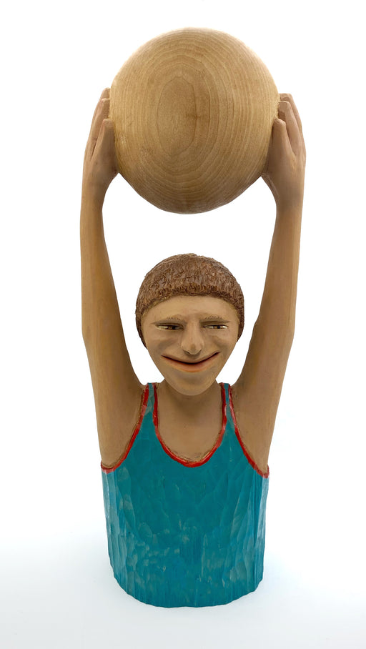 #474 Person Holding Ball Over Head