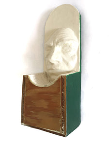 Green Wood plaster mask by Tyler James Hoare