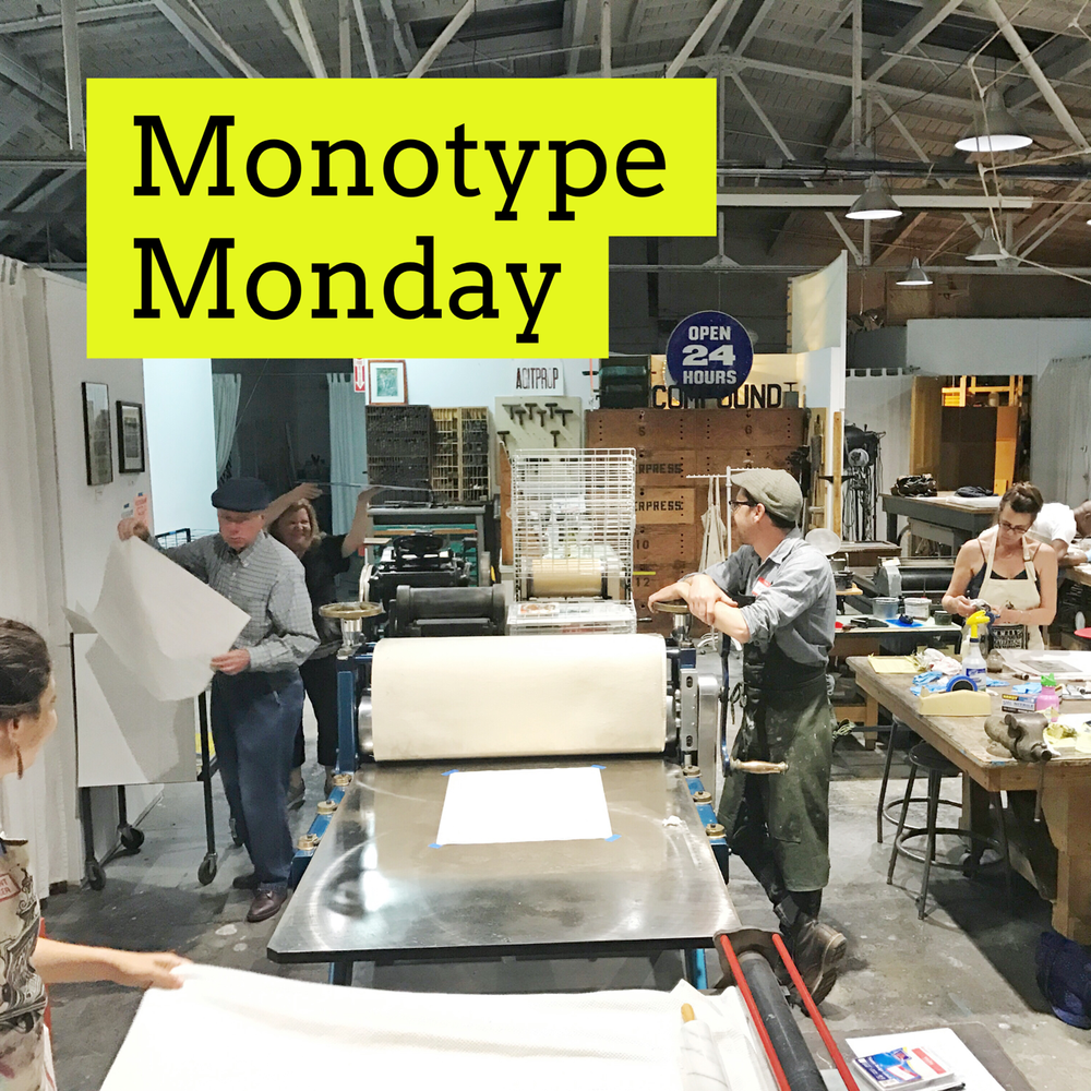 Monotype Monday - Monday, October 8th, 6-9pm