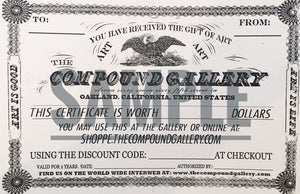 Compound Gallery Gift Certificate