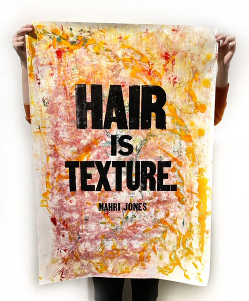 Hair is Texture (yellow/pink)