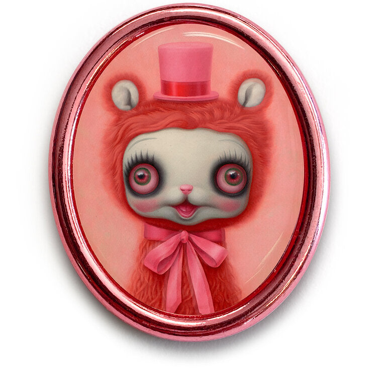 Pink Yak Pin by Mark Ryden