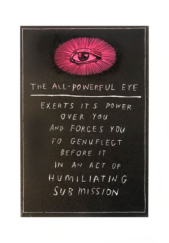 The All Powerful Eye by David Fullarton (Pink version)