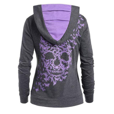1 / XXXL / China Butterfly Skull Hoodie that Dealio