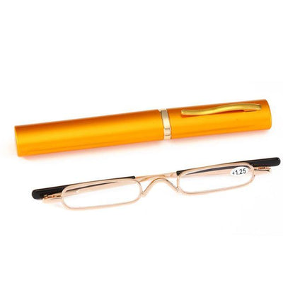 +250 / YELLOW Phantom Ultra-Thin Reading Glasses imxgine