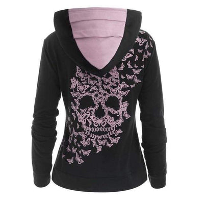 3 / 5XL / China Butterfly Skull Hoodie that Dealio