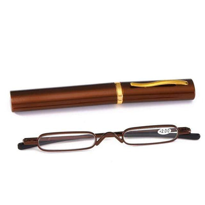 +300 / BROWN Phantom Ultra-Thin Reading Glasses imxgine