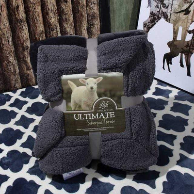 4 / 100x120cm Ultimate Sherpa Throw Electric Solitude