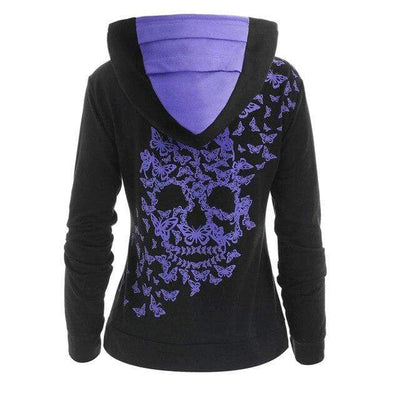 4 / XXXL / China Butterfly Skull Hoodie that Dealio